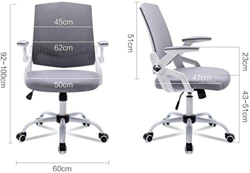 YONGYONGCHONG fåtölj kontor svängbar stol, verkställande dator skrivbord stol chef stol justerbara armstöd lyftfunktion studie arbete uppgift pall stol