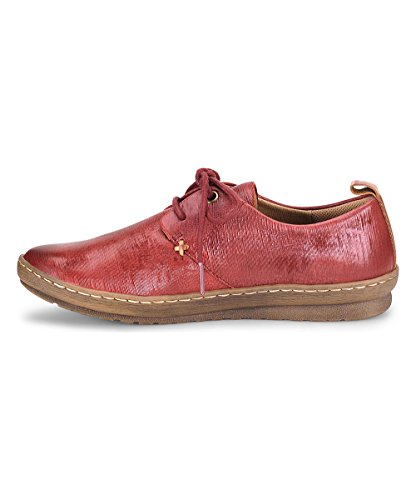 Comfortiva Womens Cassandra Leather Closed Toe Oxfords, Cherry Red, Size 7.5