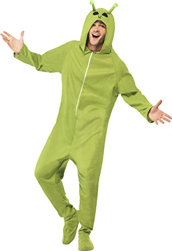 Alien Cat Costume (Smiffy's Adult Unisex Alien Costume, Hooded All in One, Legends of Evil, Halloween, Size S, 55004)