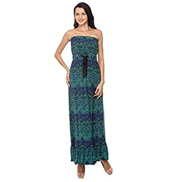 Cocum Lanza Maxi Dress For Women - 12 Uk, Dark Green