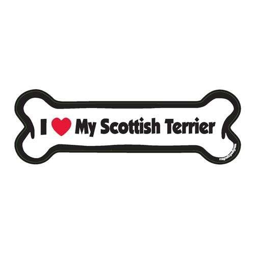 Scottish Terrier Dog Bone Magnet