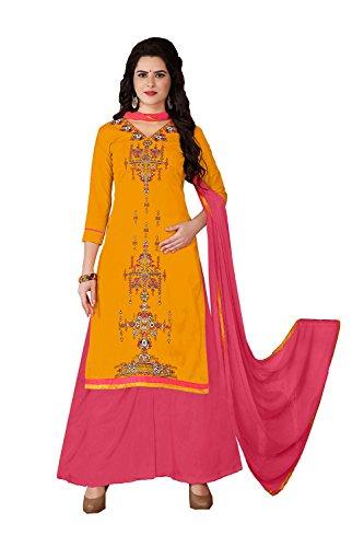 PinkCityCreations Indian Women Designer Partywear Ethnic Traditonal Dark Yellow Salwar - Free Shipping Replica Designer Clothing