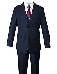 Big Boys' Two-Button 5-Piece Suit Set Navy
