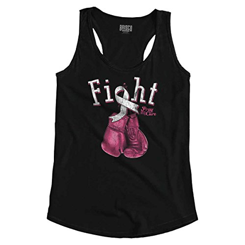 Fight Battle Breast Cancer Awareness Gift Racerback Tank Top Black