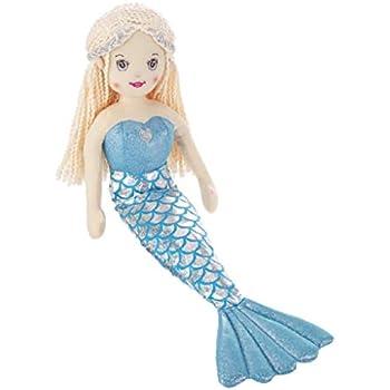 18 Inch Shiny Plush Mermaid Pirate Doll Green