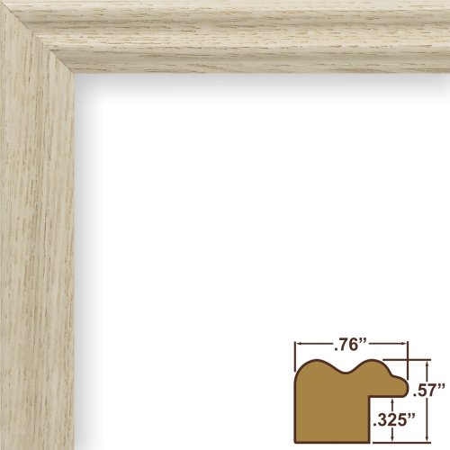 Craig Frames 200ASHWW 18 by 24-Inch Picture Frame, Wood Grain Finish, .75-Inch Wide, Whitewash