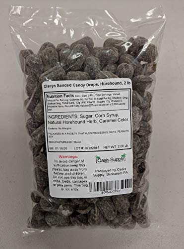 Claeys Sanded Candy Drops, Horehound, 2 Pound ()