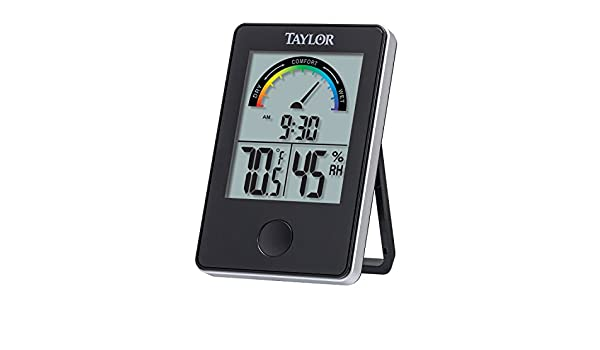 Taylor 1732 Indoor Comfort Level Thermometer and Hygrometer, Black by Taylor: Amazon.es: Hogar