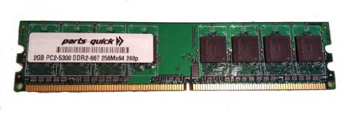 2GB Memory for Biostar P4M890-M7 SE Motherboard DDR2 PC2-5300 667MHz DIMM NON-ECC RAM Upgrade (PARTS-QUICK BRAND)