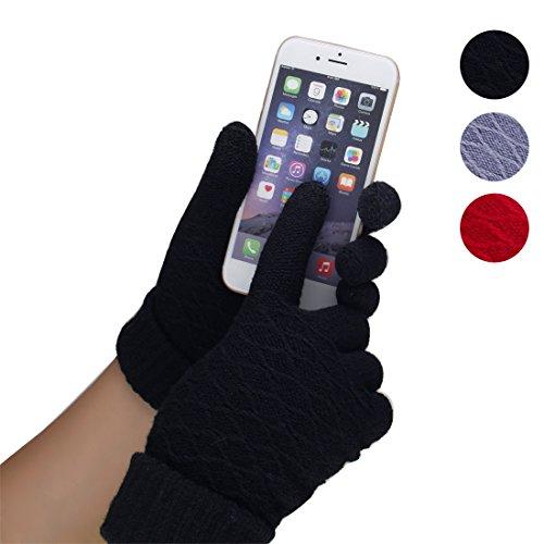 JET-BOND(TM) JJ10 Knit Touch Screen Glove for Women (black)
