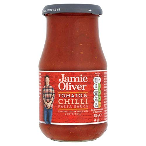 Jamie Oliver Tomato & Chilli Pasta Sauce 400g - Pack of 6