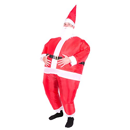 Bodysocks - Inflatable Santa Claus Blow Up Christmas Festive Adult Fancy Dress (Inflatable Santa Costume)