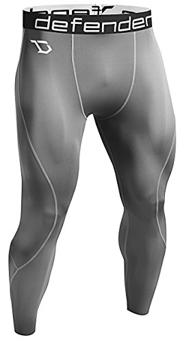 Defender Men's Compression Baselayer Pants Legging Shorts Tights Football GY_XL