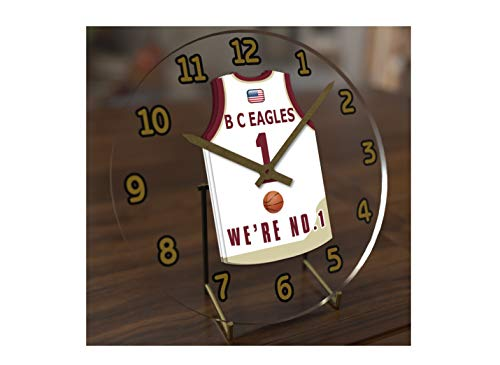 FanPlastic College Basketball USA - We're Number ONE College Hoops Jersey Themed Clocks - Support Your Team !!! (Boston College Eagles)