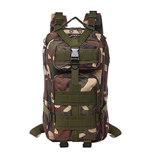 WanYang Táctica Militar Mochila Impermeable CS Camuflaje Paquete de Militar para Acampada Camping Senderismo Deport Nylón Impermeable Camuflaje D