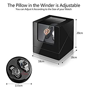 Sepano Double Watch Winder,Wooden Automatic Watch Winder Box for 2 Watches – Watch Display Case with Mabuchi Motor and Dual Power Supply