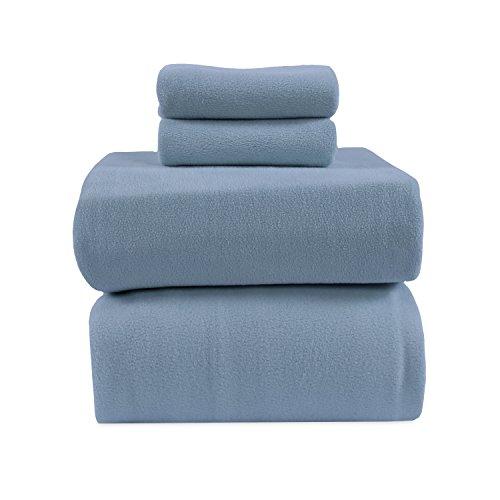 Berkshire Blanket Original Microfleece Sheet Set Fleece, Twin, Spa Blue by Berkshire Blanket