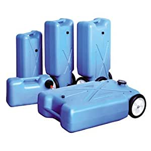 42 Gallon Tote and Store Water Tank Portable Waste Storage Can