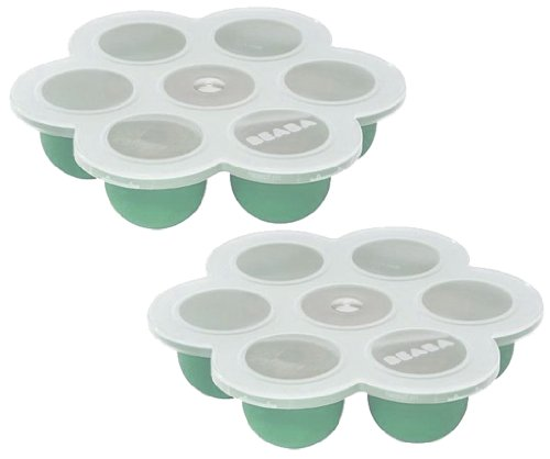 Beaba Multiportions 2oz Cups Freezer Tray, Set of 2, Mint