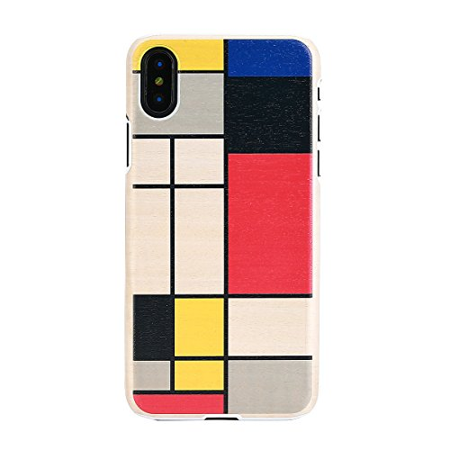Man&Wood iPhone XS/X ケース 天然木 Mondrian Wood(マンアンドウッド モンドリアンウッド) アイフォン カバー 5.8インチ 木製【日本正規代理店品】 I10492i8