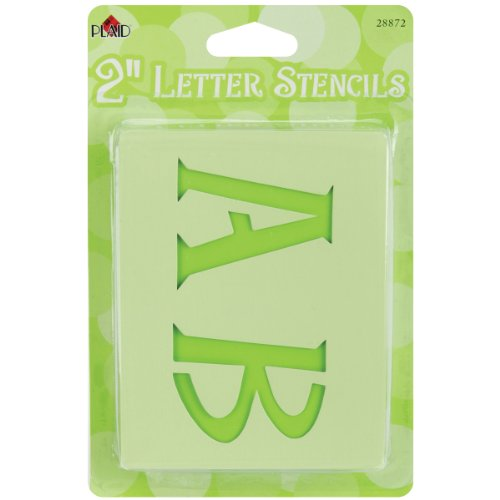 Plaid Letter Stencil Value Pack , 28872 Genie