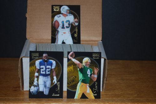 (1996 Pinnacle Zenith Football Complete Set (1-150) Ft. Emmitt Smith, Brett Favre, Dan Marino and Many More Stars and Rookies - Great Gift for Any Football Fan - Super Premiuim Card Stock on This Vintage Set)