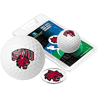 NCAA Central Washington Wildcats - Golf Ball One Pack with Marker