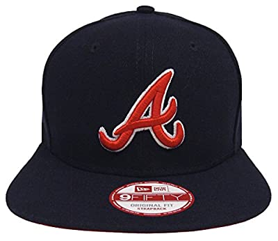 Atlanta Braves New Era Practice Snapback Cap Hat Navy