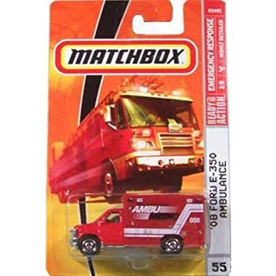 Matchbox Ambulance 2009, '08 Ford E-350 Ambulance # 55, Emergency Response 1:64 Scale Collectible Die Cast Car: Toys & Games
