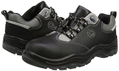 color 48 talla Negro adultos unisex Piel 4117 Negro Black Botas seguridad de Security de Line zF7xqS