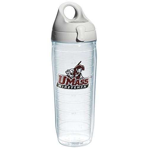 Tervis 1074269 Mass Amherst University Emblem Individual Water Bottle with Gray lid, 24 oz, - Amherst Outdoor Wall