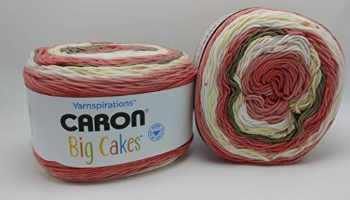 Caron Big Cakes Self Striping Yarn ~ 603 yd/551 m / 10.5oz/300 g Each (Cake Roll)