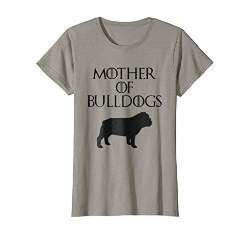 (Cute & Unique Black Mother of Bulldogs T-shirt E010600)