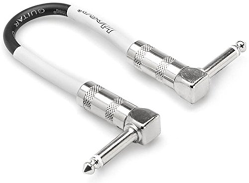 Hosa CPE-411 Hosa Right-angle to Same Guitar Patch Cables, Various Lengths