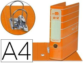 5 ARCHIVADORES DE PALANCA LIDERPAPEL A4 FILING SYSTEM NARANJAS: Amazon.es: Oficina y papelería