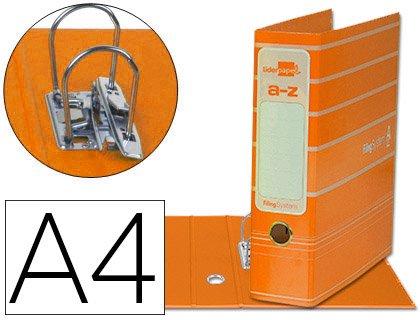 5 ARCHIVADORES DE PALANCA LIDERPAPEL A4 SYSTEM FILING SYSTEM A4 NARANJAS 063e55