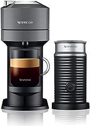 Nespresso, Nueva Cafetera Vertuo Next, con Espumador de leche, Color Dark Grey (Incluye obsequio de 12 cápsula