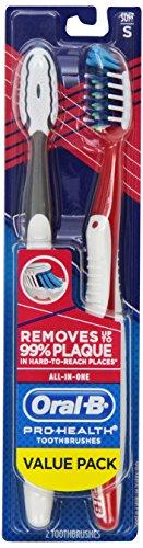 Oral-B Pro-Health All-In-One 40 мягкой зубной щеткой Twin Pack, 2 Count (Цвет может варьироваться)