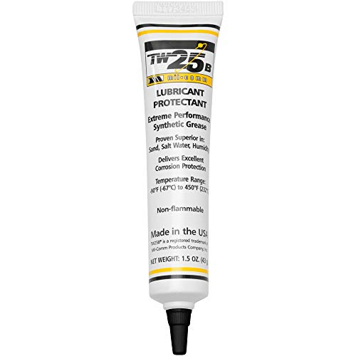 Mil-Comm TW25B Gun Grease 1.5-Ounce Tube, Synthetic Lubricant