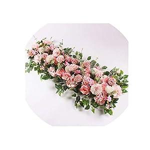 50/100cm Custom Wedding Flower Wall Arrangement Silk Peony Artificial Flower Row Decor Romantic Arch Backdrop 28