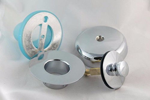 Leak-Proof Overflow Face Plate Gasket and Lift & Turn Drain Kit, Chrome