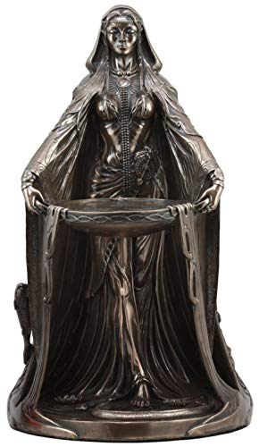 Ebros Celtic Triple Goddess Danu Statue 16 Tall Maxine Miller Statue Patroness Cycle of Life Death and Rebirth Bronze Patina