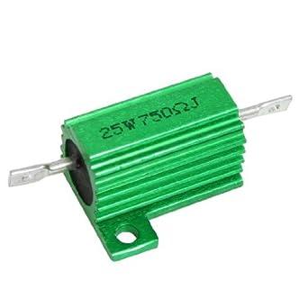eDealMax a12042600ux0207 25W 750 Ohm 5% DE Hilo bobinado ...