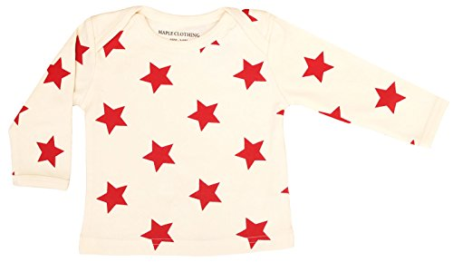 Maple Clothing Organic Cotton Baby Long Sleeve T-Shirt GOTS Certified - Cotton Star T-shirt All