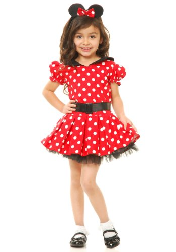 Charades Red Miss Mouse Kids Costume, Small 6-8
