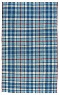 product image for Capel Yacht Club Blue 5' x 8' Rectangle Flat Woven Rug