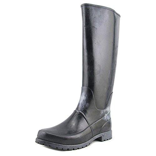 LAUREN Ralph Lauren Bethania Knee High Rain Boot Shoe - Black Shiny Rubber - Womens - 8