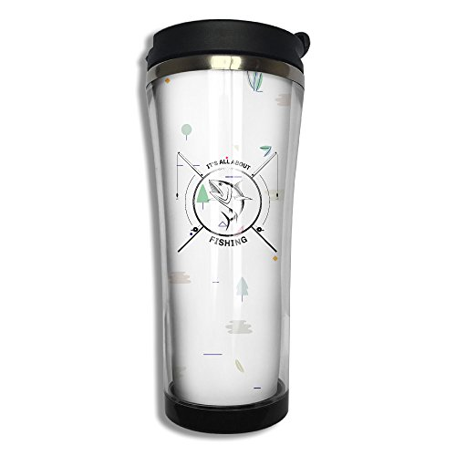 Stainless Steel Its All About Fishing Travel Mug Coffee Cup