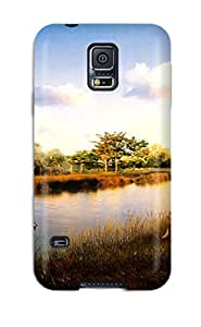 Best Galaxy S5 Case Cover - Slim Fit Tpu Protector Shock Absorbent Case (japan Digital Scenery)