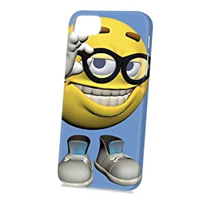 Case Fun Apple iPhone 5 / 5S Case - Vogue Version - 3D Full Wrap - Smiley in Glasses